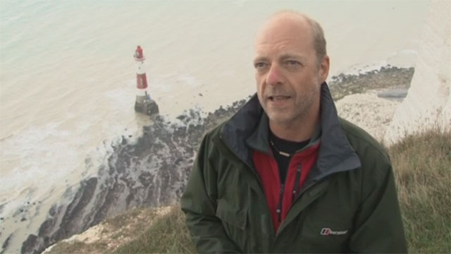 Rob Wassell Save the Stripes Campaign Beachy Head ITV Meridian News